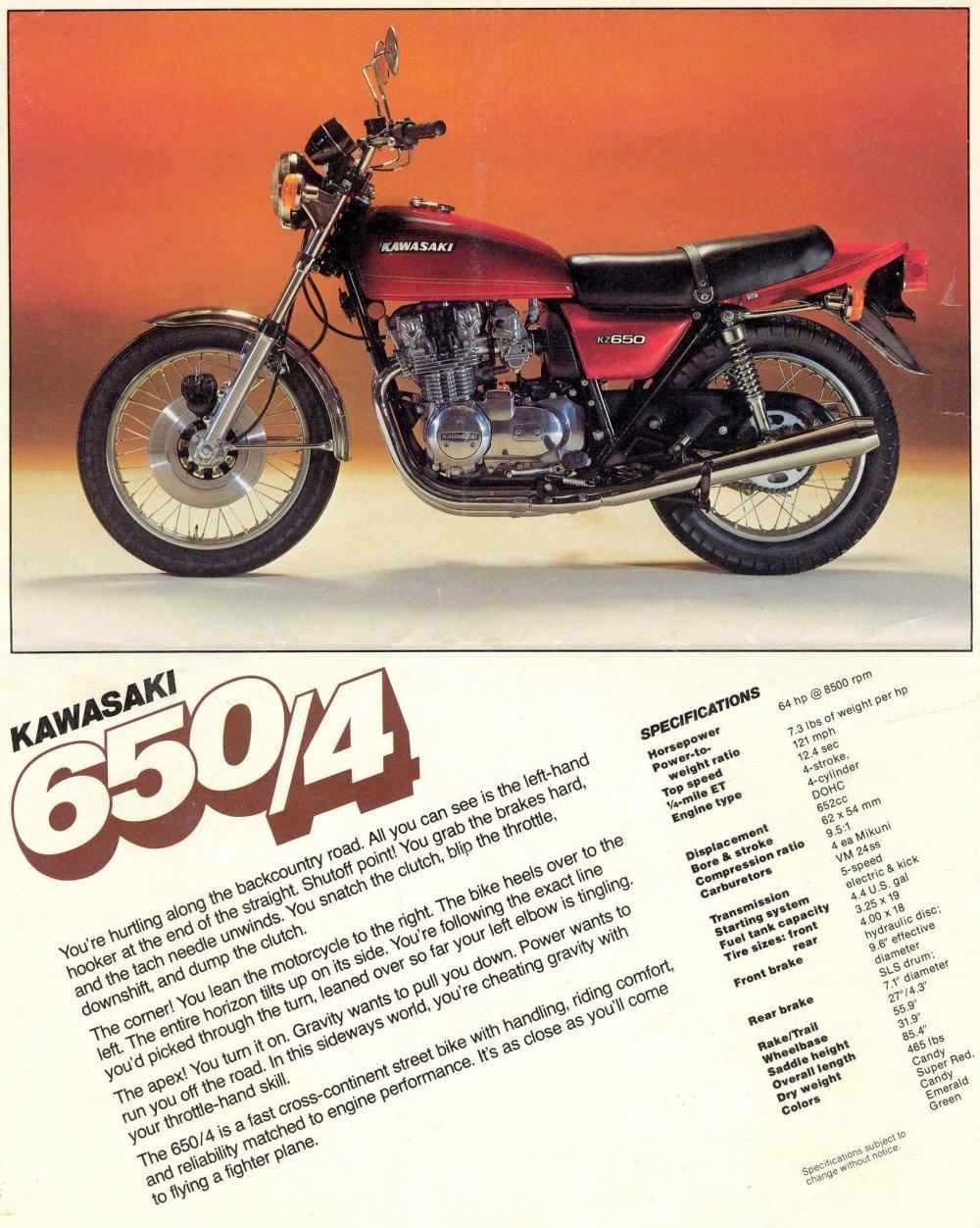 Kz650info Printed Ads 1980 Kz1000 Wiring Diagram Color Kz650